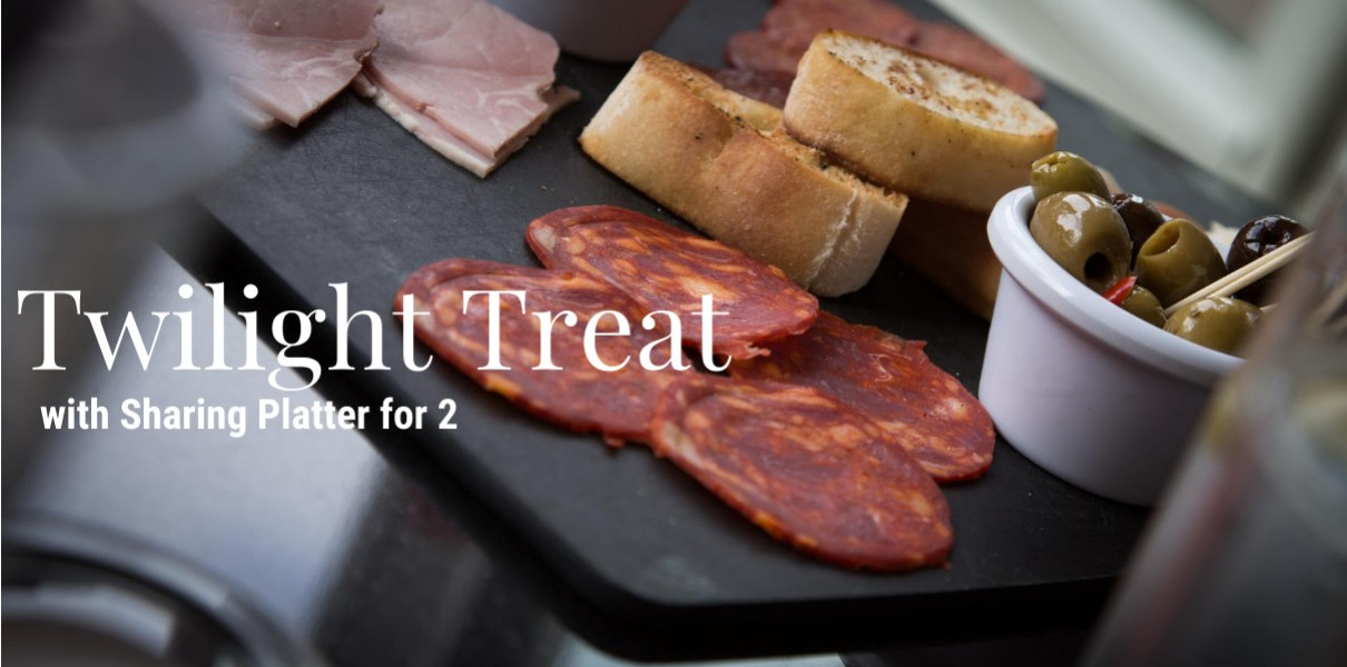 Twilight Treat with a sharing platter for 2 Hastings Friday-Sunday