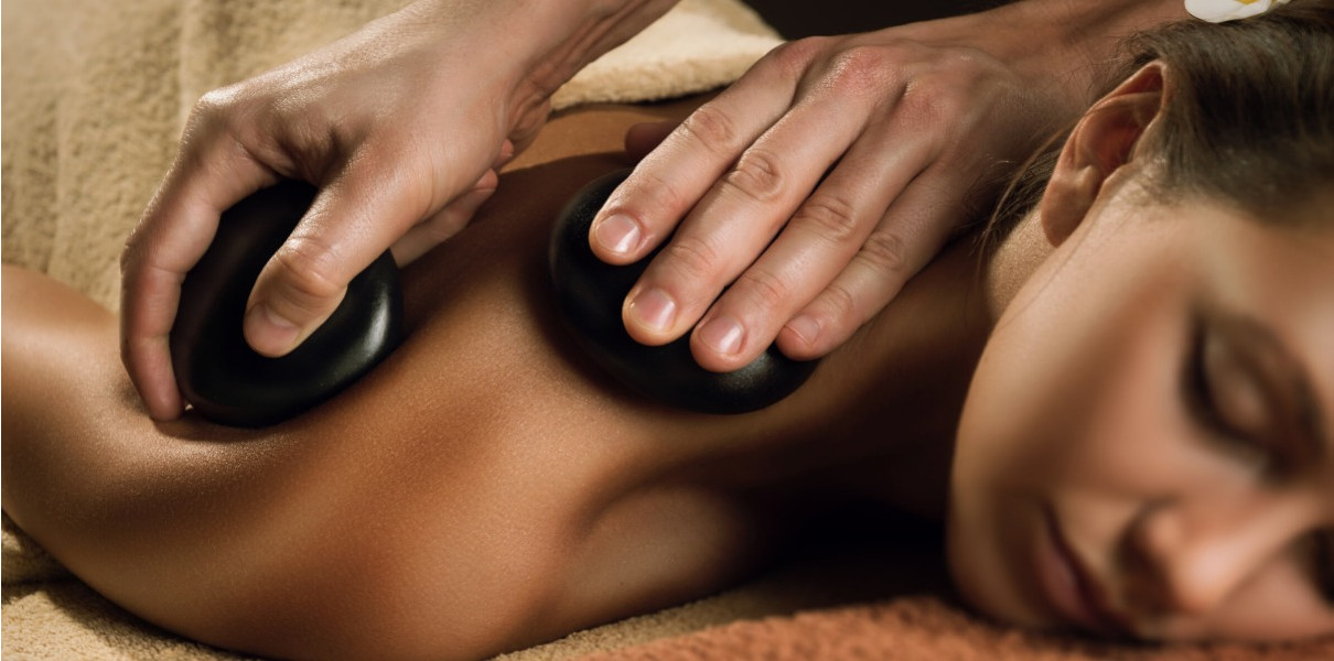 Molten Lava Stones - Back Massage